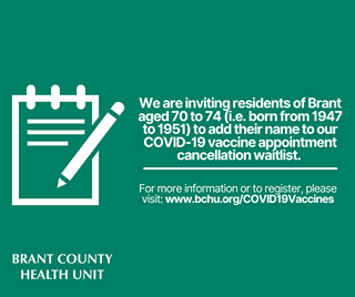 The BCHU has launched a COVID-19 vaccine appointment cancellation waitlist. We …